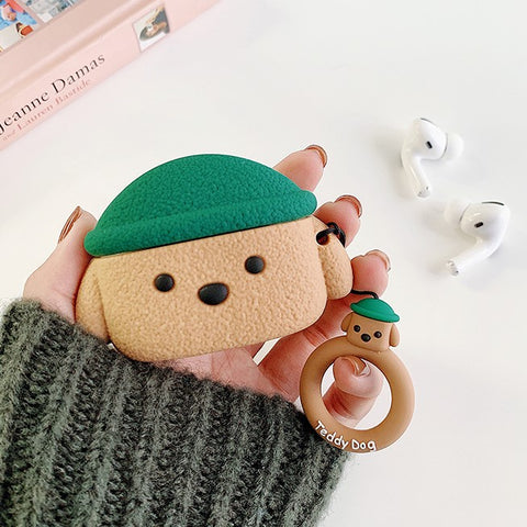 Teddy Dog Airpods Case (Green)
