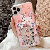 Floating Milk Tea iPhone Case (Rabbit)