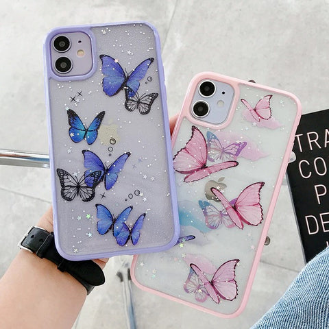 Glitter Butterfly iPhone Case