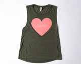 Love Carbs Sleeveless T-Shirt - A Tad Too Sweet