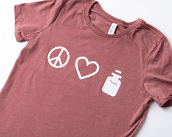 Peace. Love. Insulin. Shirt - A Tad Too Sweet