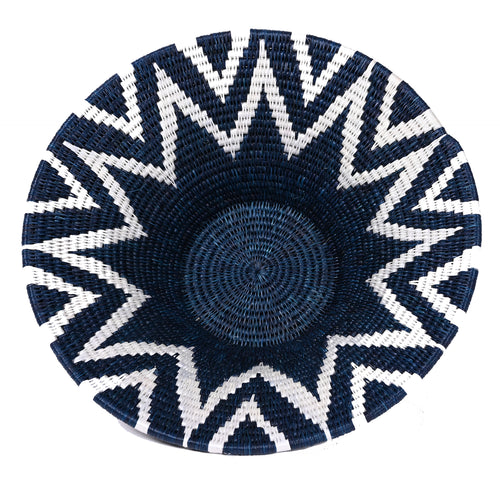 Lavumisa Basket - Indigo Blue Collection