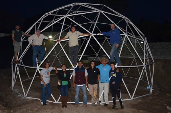 Building a Geodesic Dome Using Hubs and PVC