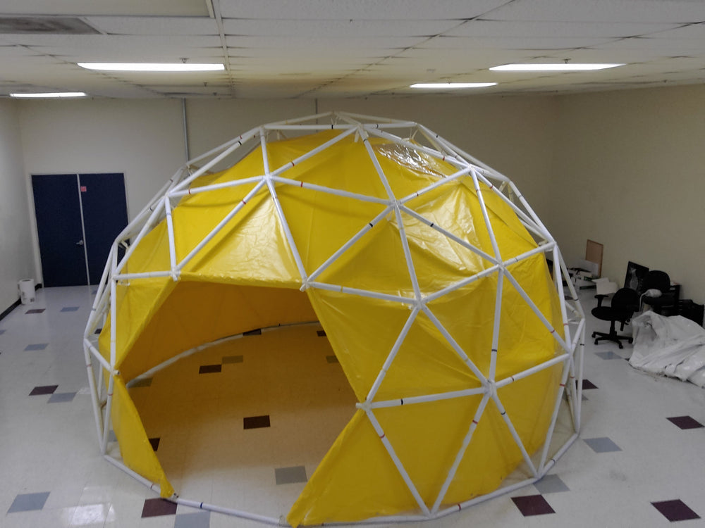 Sonostar geodesic dome with cover mounted on the inside.