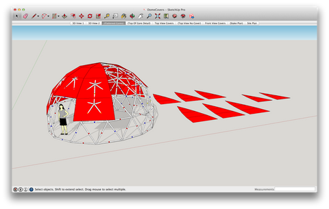 Building a Geodesic Dome using Sketchup Software