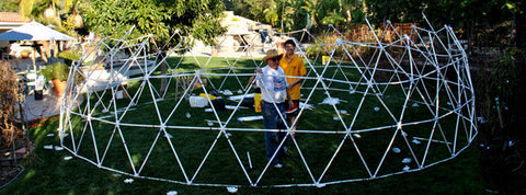 how to build a PVC geodesic greenhouse dome