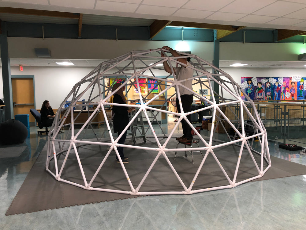PVC geodesic dome using Sonostar hubs