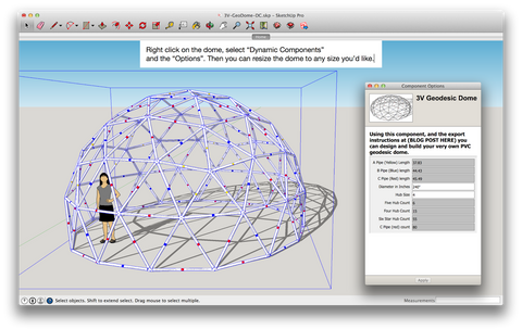 Building a Geodome Using Sketchup Software