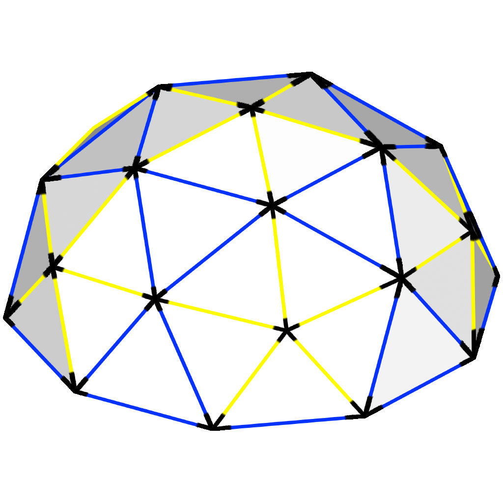 Geodesic Dome: Lightweight PVC Dome Connectors