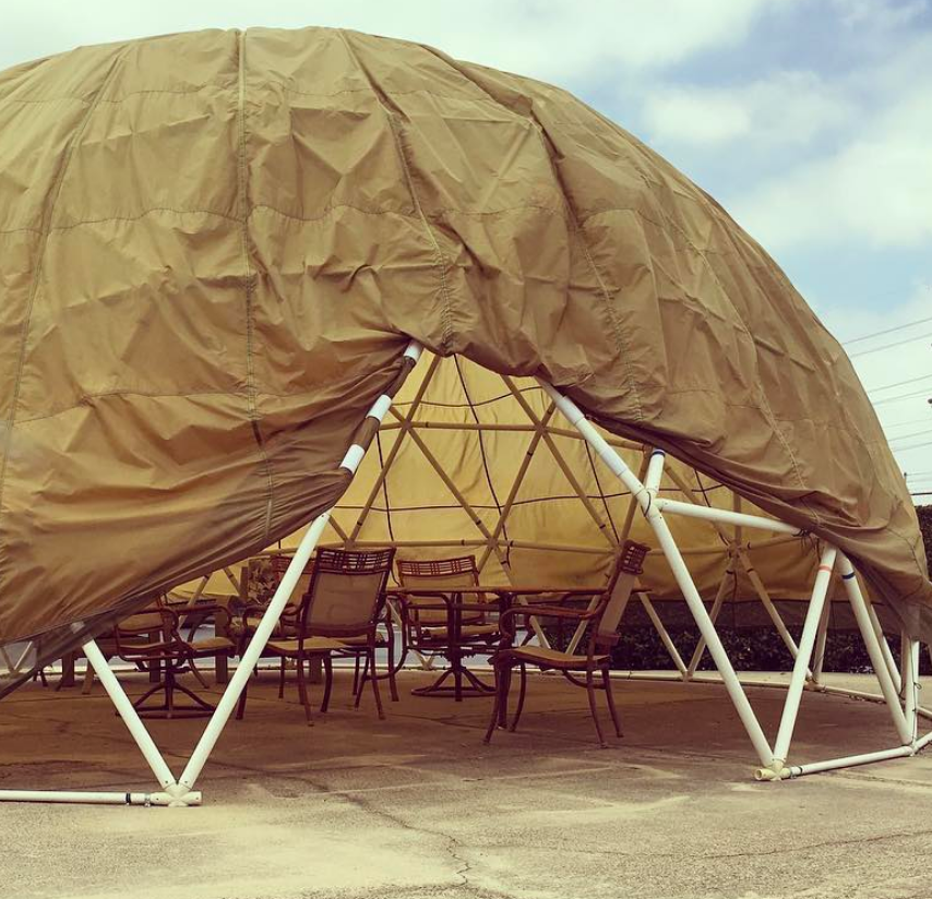 2x6 Heavy Duty Wood Geodesic Hub Kit: 24 Ft. Shelter Dome Cover