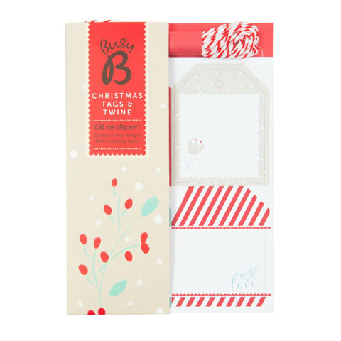 Busy B Christmas Gift Tags and Twine