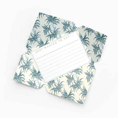 Tuppence Collective Yellow Tropical Palm Tree Telegram Card