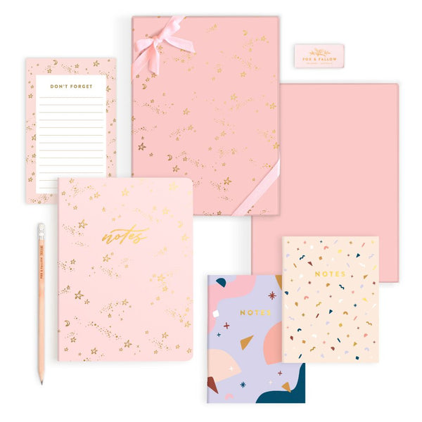 Fox and Fallow Stardust Stationery Gift Set, notebooks, stationery gift box,