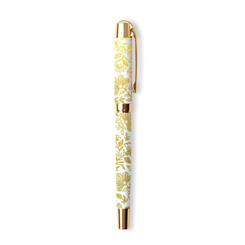 Fox and Fallow White Moonstone Rollerball Pen