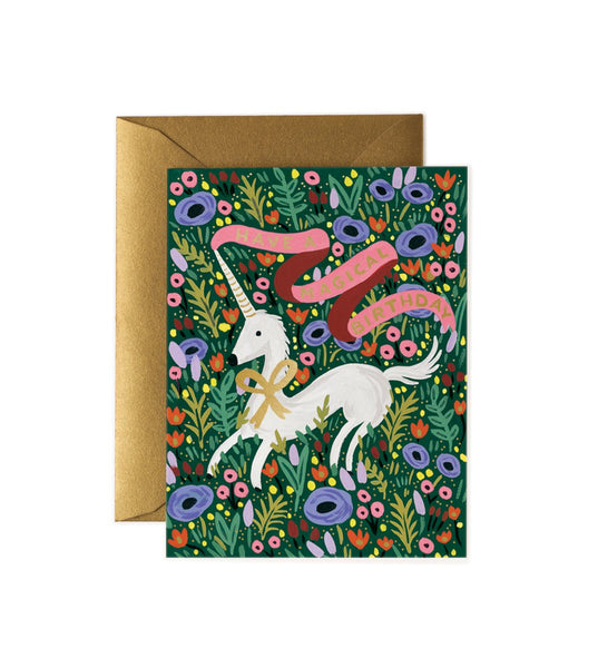 Rifle Paper Co. Unicorn Have a Magical Birthday Card