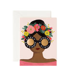 Rifle Paper Flower Crown Birthday Girl Card