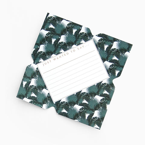 Tuppence Collective Tropical Palm Leaves Telegram Card