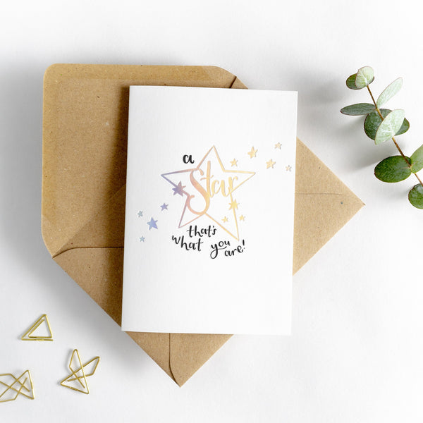 Hunter Paper Co. A Star That's What You Are Greeting card