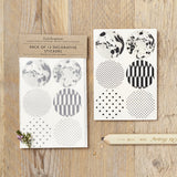 Katie Leamon Monochrome Stickers