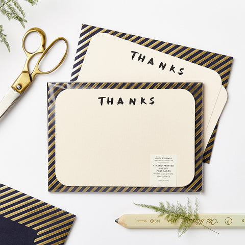 Katie Leamon Luxe Brush Letter Thanks Notecards Set