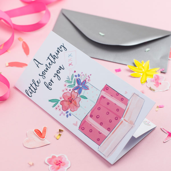 Katie Phythian A Little Something For You Money Wallet Card, birthday card, well done gift card