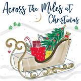 Katie Phythian Across the Miles at Christmas Card This beautifully designed luxury Christmas card with a Father Christmas's sledge design is perfect for wishing your loved ones from across the globe a merry Christmas this year.