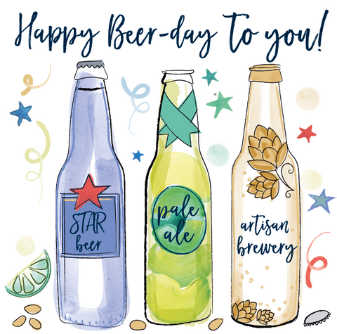 Katie Phythian Beer Day to You Happy Birthday Card