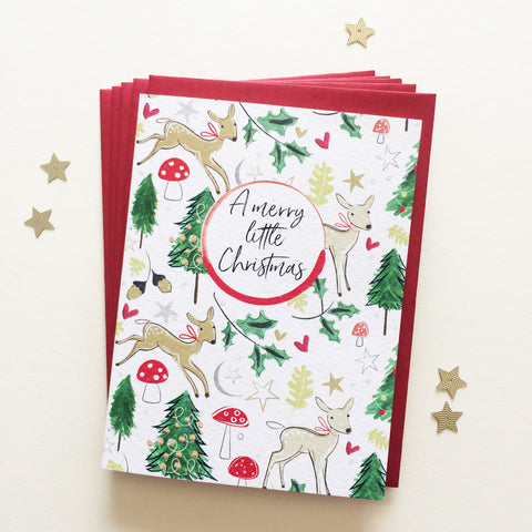Katie Phythian Merry Christmas Little Deer Card Pack