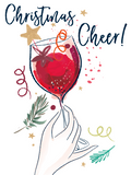 Katie Phythian Wine Christmas Cheer Card Pack