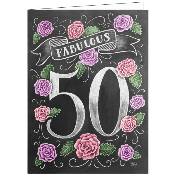 Lily and Val 50th Birthday Card