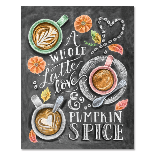 Lily and Val A Whole Latte Love and Pumpkin Spice Print