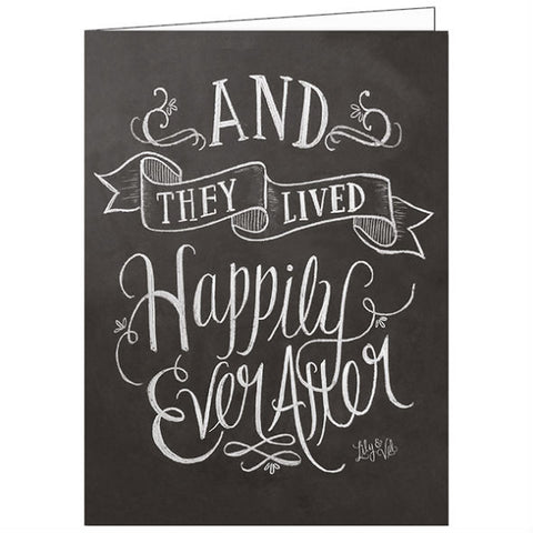 Lily and Val And They Lived Happily Ever After Wedding Card