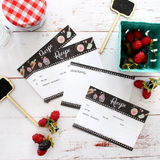 Lily and Val Chalk Board Recipe Cards