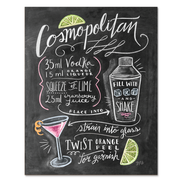 Lily and Val Cosmopolitan Cocktail Recipe Print