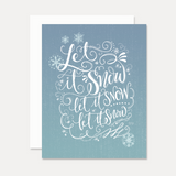 Lily and Val Let It Snow Christmas Card