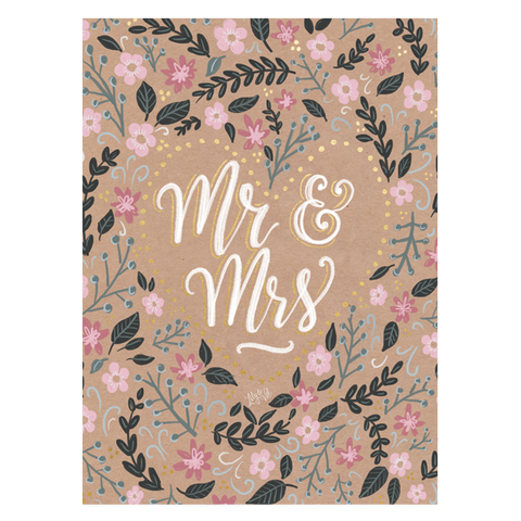 Lily and Val Mr and Mrs Wedding Card