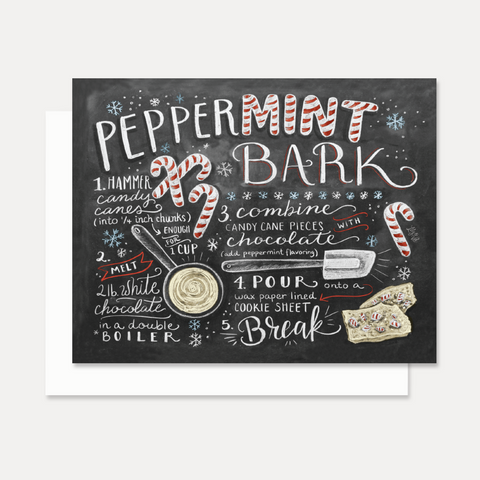 Lily and Val Peppermint Bark Christmas Card