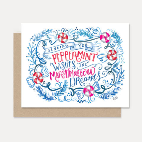 Lily and Val Peppermint Wishes and Marshmallow Dreams Christmas Card