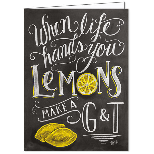 Lily and Val When Life Hands You Lemons Make a G&T Card