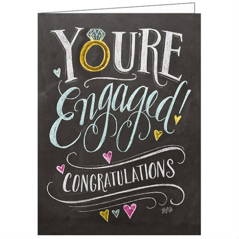 Lily and Val You're Engaged Card