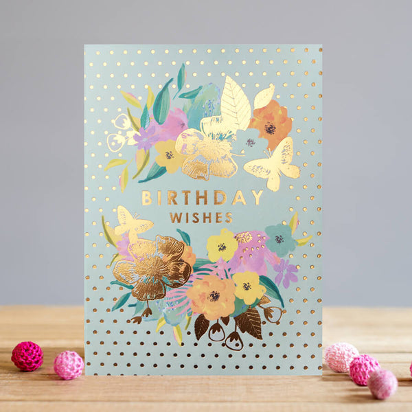 Louise Tiler Floral Birthday Wishes Card