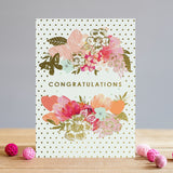 Louise Tiler Floral Congratulations Card