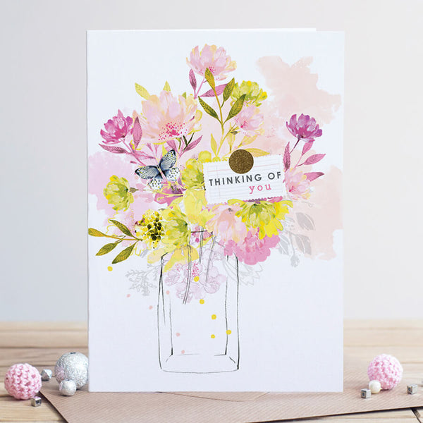 Louise Tiler Floral Thinking of You Card