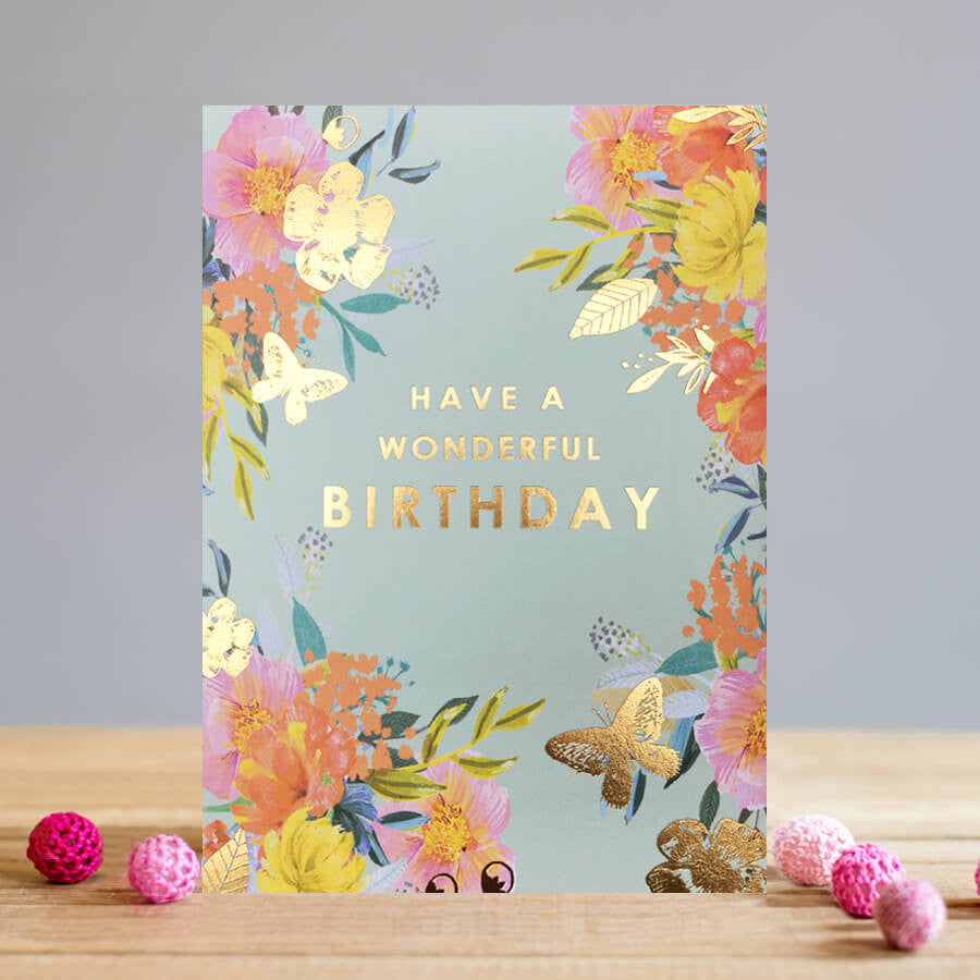 Phenomenal Louise Tiler Floral Wonderful Birthday Card Lilly And Thorn Funny Birthday Cards Online Unhofree Goldxyz