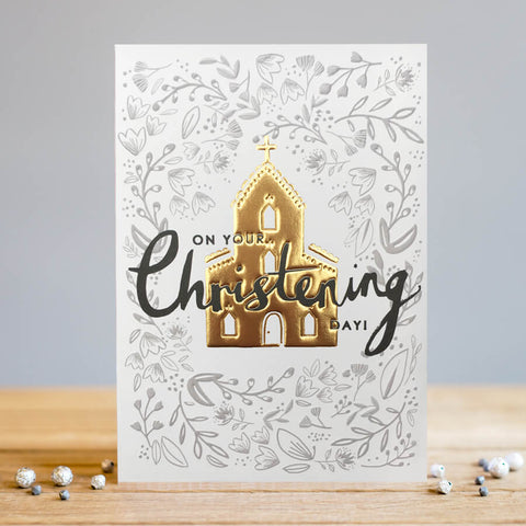 Louise Tiler Gold Foil Christening Card
