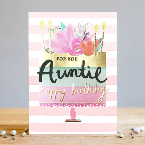 Louise Tiler Happy Birthday Auntie Card
