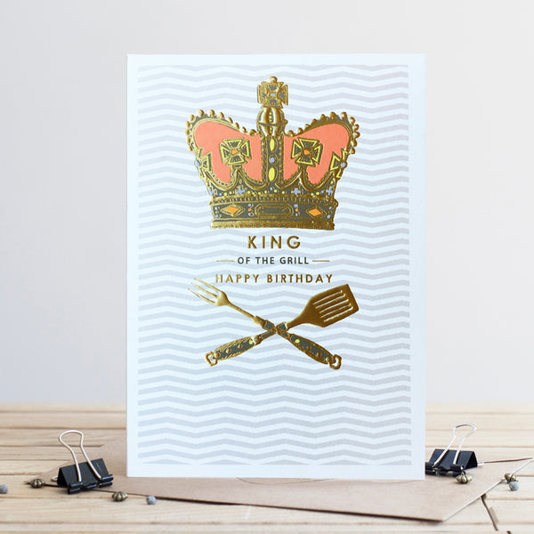 Louise Tiler King of the Grill Birthday Card