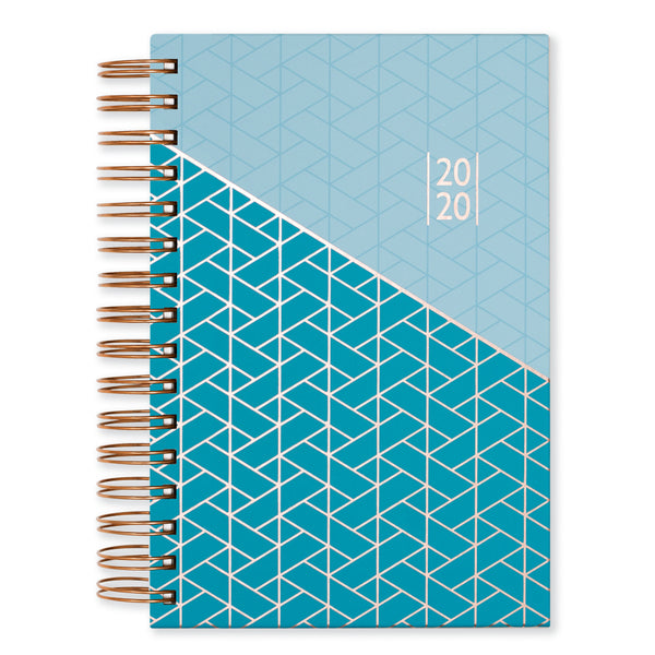 Matilda Myres Day A Page 2020 Diary -  A5 Hardback Wiro Teal Planner