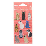 Midori Point Marker Sticky Notes - Cat