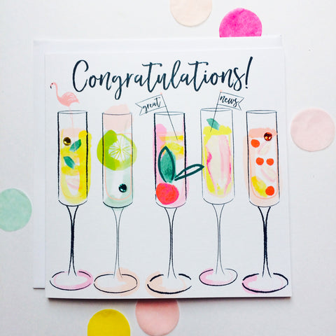 Katie Phythian Cocktails Congratulations Card